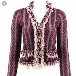Anthropologie Sweaters - Anthropologie HWR Fringe Angora Wool Cardigan—L